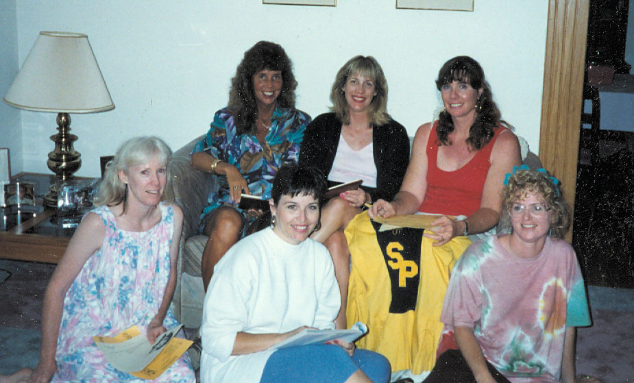 Front: Nancy, Noel, Joy; Back: Anita, Gina, Toni