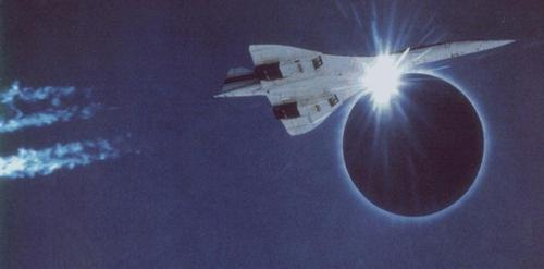 Concorde Flyby of Solar Eclipse